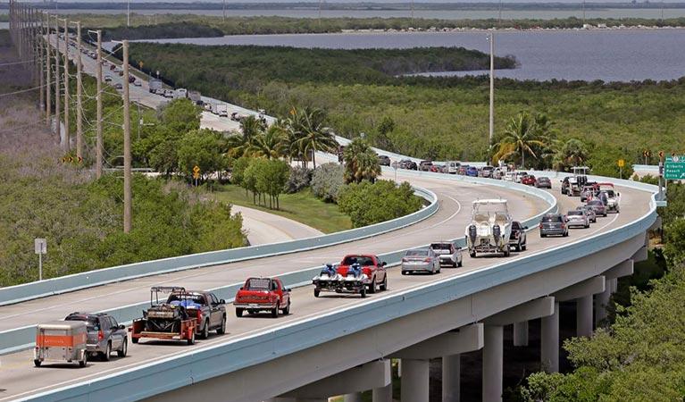 florida residents evacuate in preparation for hurricane irma
