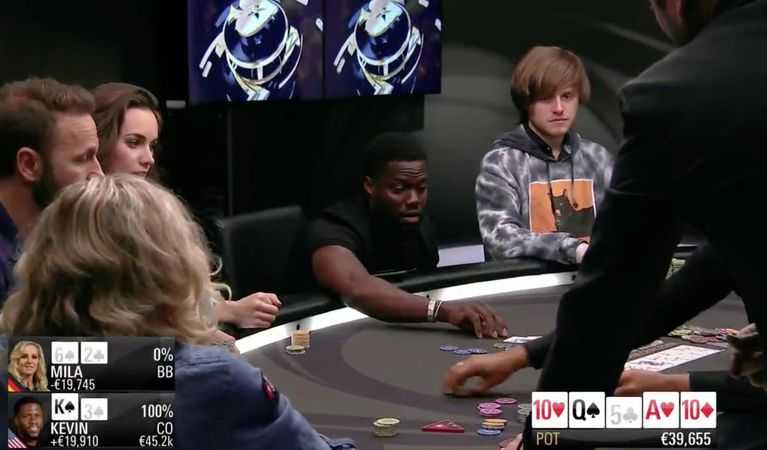 Kevin Hart playing poker