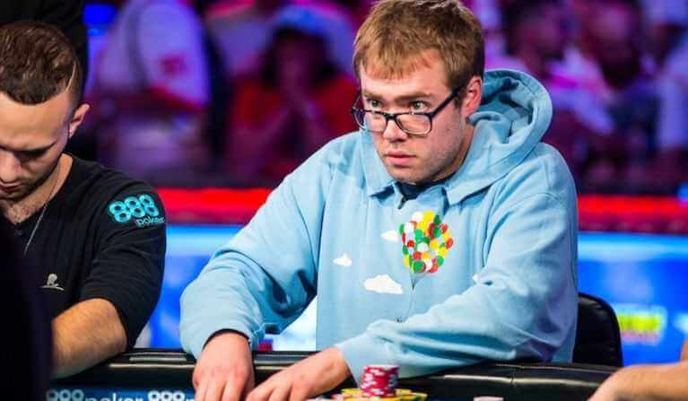 Michal Dyer playing at 2018 WSOP.