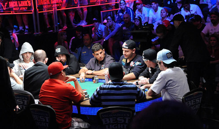 A shot of one of the WSOPE events.