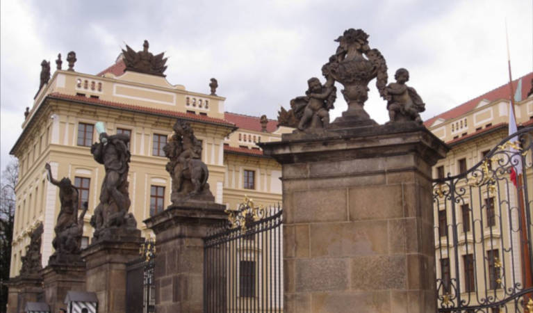 Czech Republic, Prague and governmental buildings.