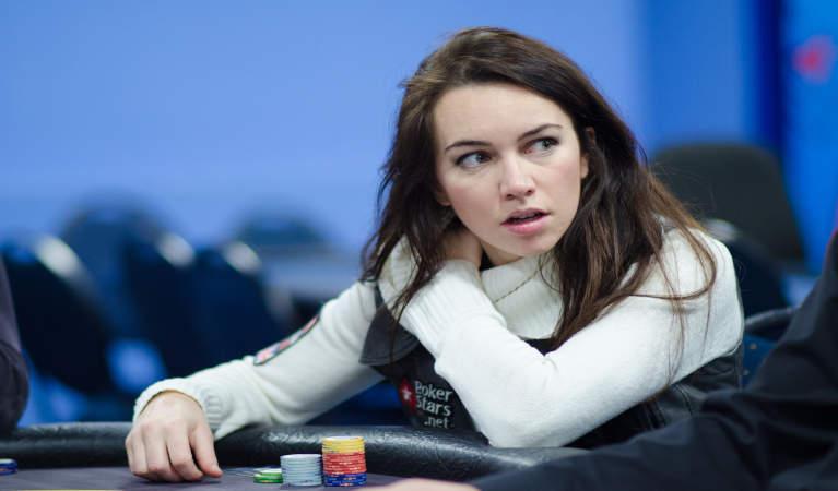 Liv Boeree at a game of poker.