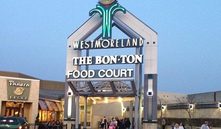 Westmoreland Bon Ton Food Court before closure
