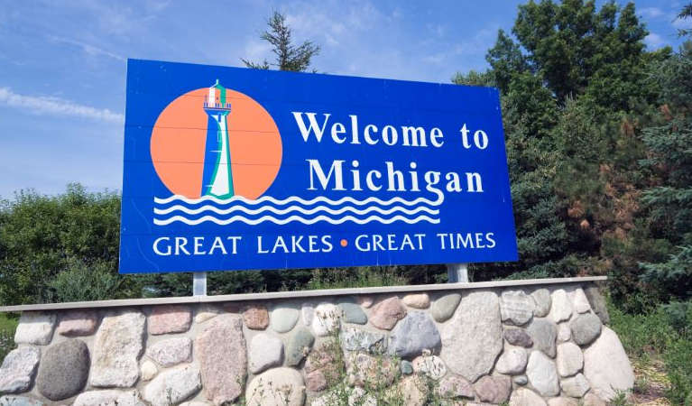 Michigan's Welcome Sign
