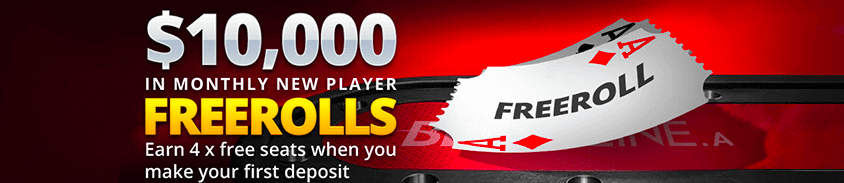 10000 in monthly new player freerolls