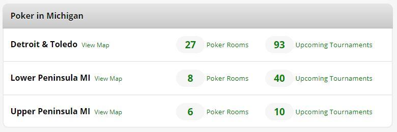 Poker Atlas Michigan Card Room