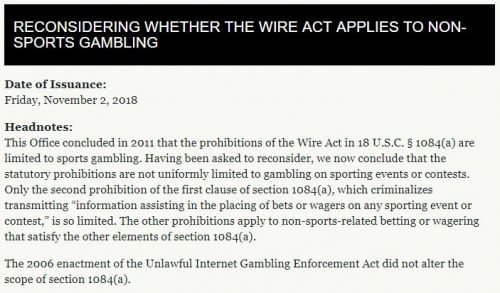 Revised Wire Act