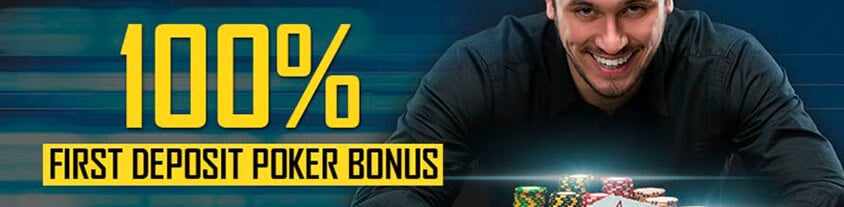 100% first deposit poker bonus