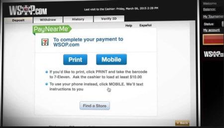 wsop payment screen