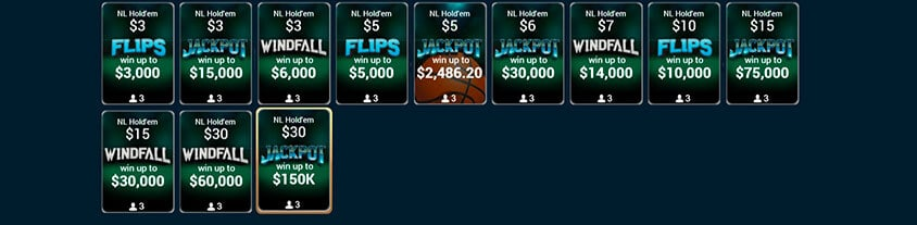 jackpot events, flips and windfall
