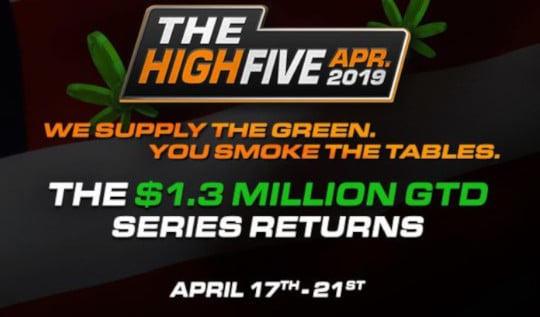 the high five poker event 1.3 million gtd series