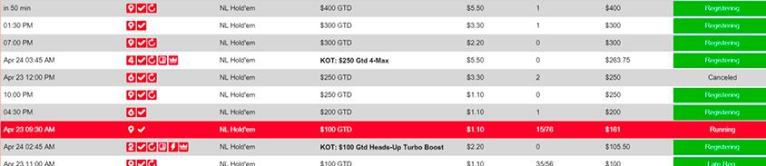 listing of betonline poker tournaments