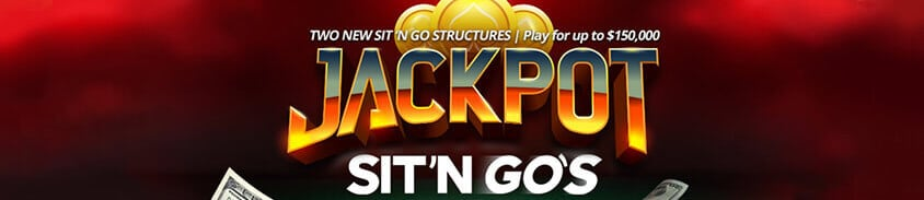 two new jackpot sit n go structures for up to $150,000 usd