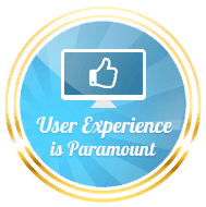 user experience paramount badge