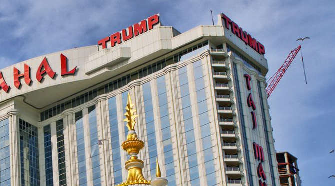 The failed Taj Majal casino project in Atlantic City