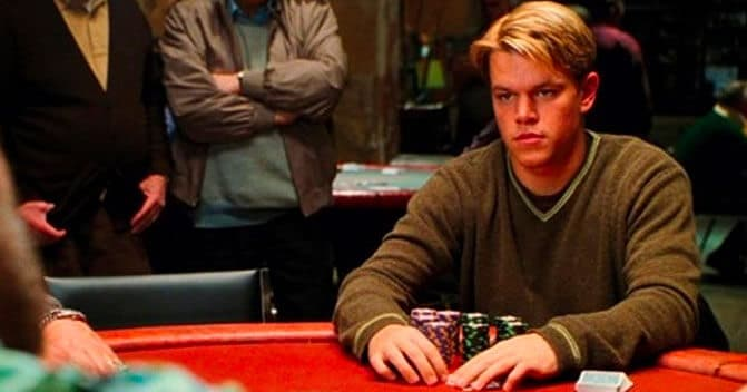 A lone Matt Damon plays the casino odds.