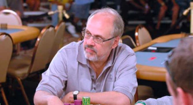 David Sklansky during a game of poker.