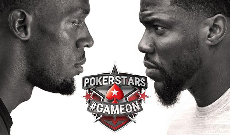 pokerstars gameon challenge between kevin hart and usain bolt