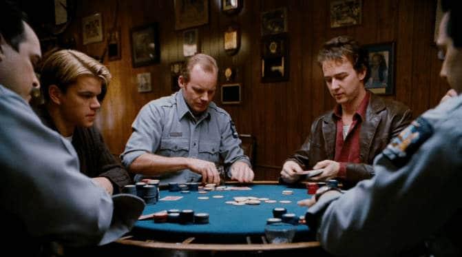 Matt Damon starring in Rounders, a poker movie.