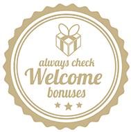 always check welcome bonuses badge