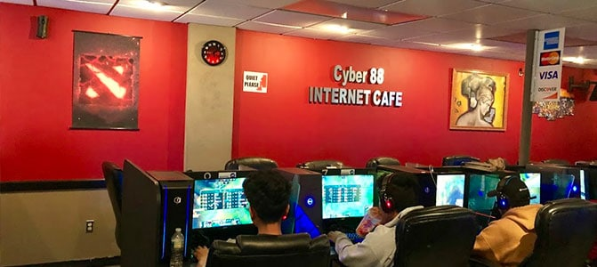 cyber 88 internet cafe inside view