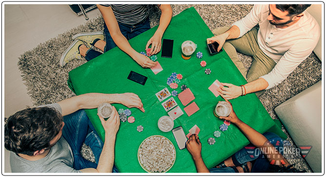 Image of Friends around a Table playing poker