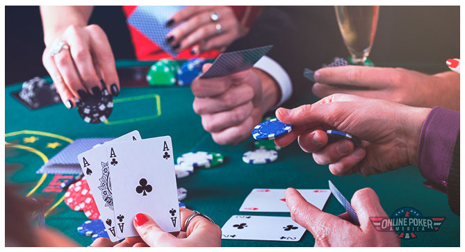 Image of poker players placing bets