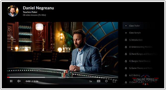 Daniel's Masterclass Poker Course