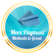more payment methods great badge