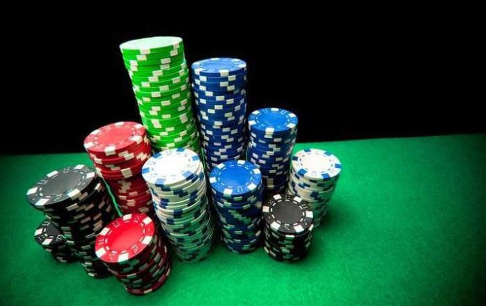 Poker Chips Stacked