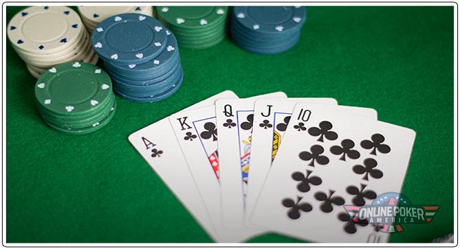 Gambar memilih permainan dan tabel poker Anda