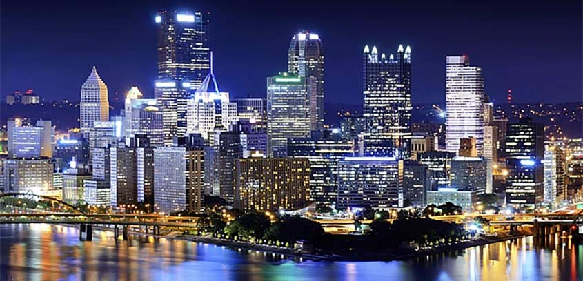 Philadelphia, Pennsylvania at night