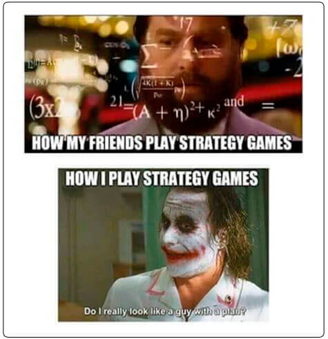 Image of strategy vs no strategy