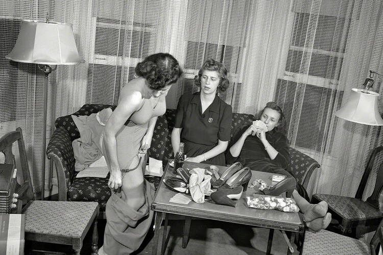 A game of strip poker at home.