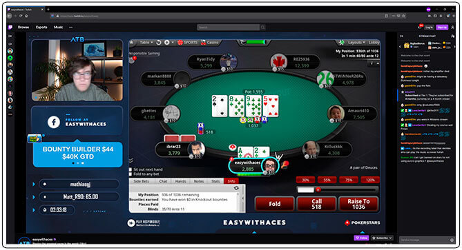 Image of Twitch Poker Streamer Easy With Aces