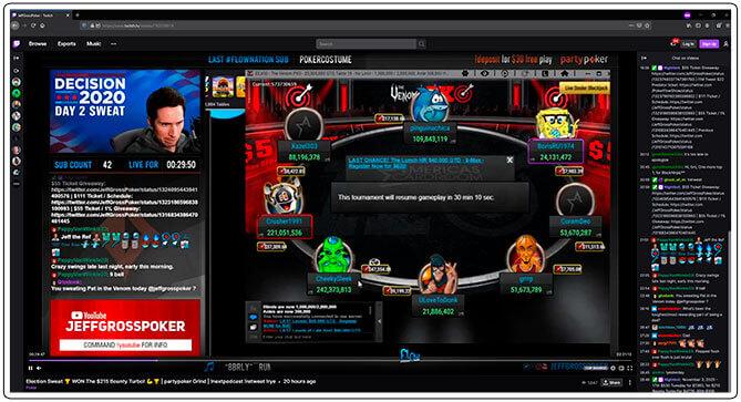 Gambar dari Jeff Gross Poker Twitch Stream