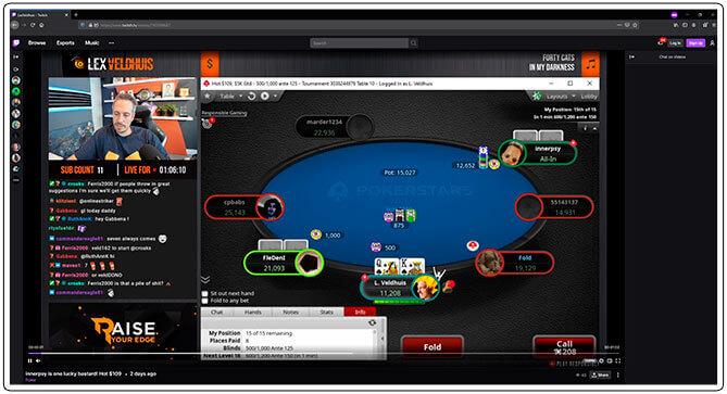 Gambar aliran kedutan poker Lex