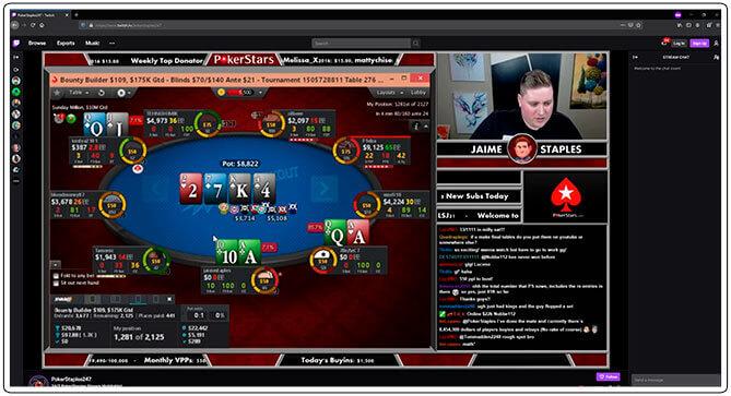 Gambar dari PokerStaples Live Stream