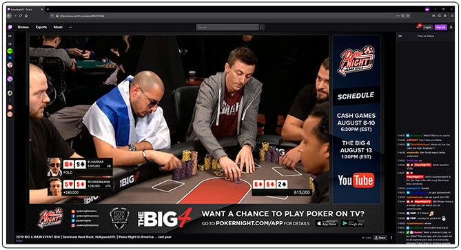 Image of Twitch Poker Tournament Channel Poker Night TV