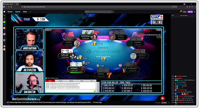 Image of Twitch Poker Tournament Channel Poker Stars