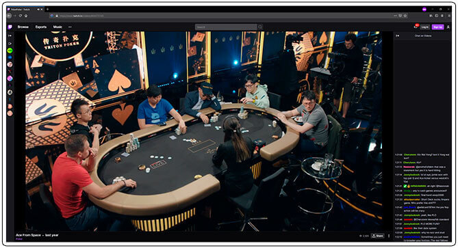 Image of Twitch Poker Tournament Channel Triton Poker