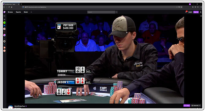 Image of Twitch Poker Tournament Channel World Poker Tour