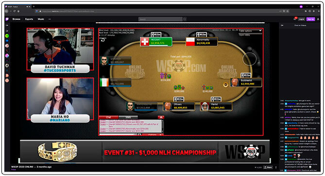 Image of Twitch Poker Tournament Channel WSOP