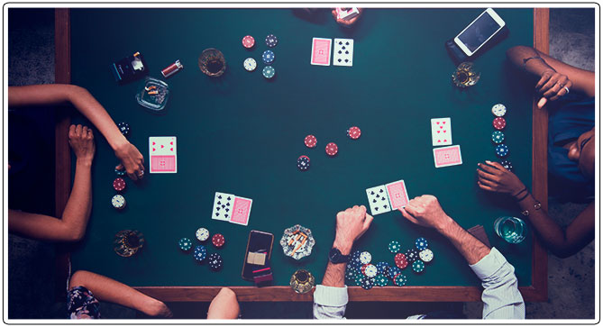 Image of UTG poker player at a poker table