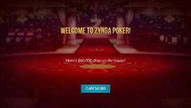 Zynga poker mobile app welcome screen